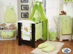 My Sweet Baby - Baby Cot with Sleeping Bear - Green