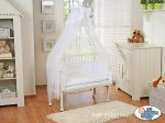 My Sweet Baby - Fabio Inscription Bedside Crib - White