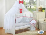 My Sweet Baby - Glamour Collection Cot - Grey/Red