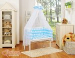 Bobono - Elephant Bedside Crib with Bedding -Blue