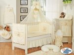 My Sweet Baby - Baby White Cot with Bear and Bow - Cream