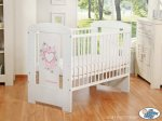 My Sweet Baby Chic Wood White Cot-Pink