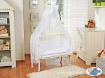 My Sweet Baby - Fabio Bedside Crib - White