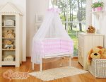 Bobono - Elephant Bedside Crib with Bedding -Pink
