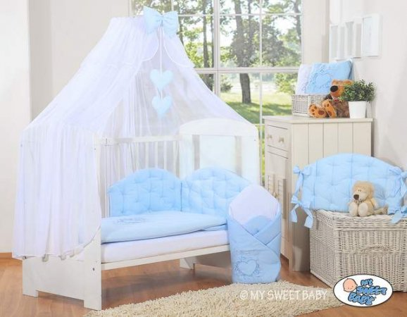 My Sweet Baby - Glamour Chic Collection Cot - Light Blue - Click Image to Close