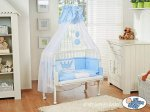 My Sweet Baby - Fabio Inscription Bedside Crib - Blue