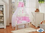 My Sweet Baby - Fabio Inscription Bedside Crib - Pink